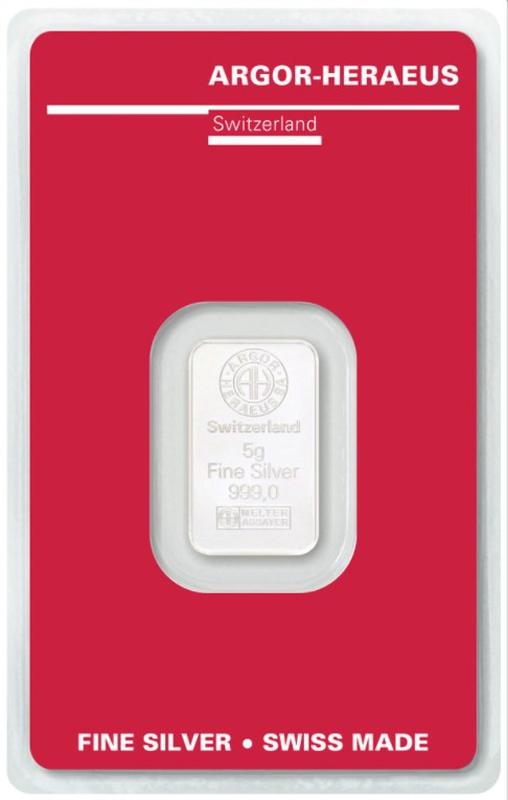 Argor-Heraeus 5 Gram Silver Bar