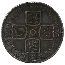 1711 Queen Anne Silver Milled Shilling
