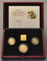 1991 Gold Proof Sovereign Three Coin Set Boxed