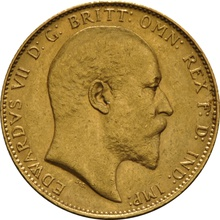 1907 Gold Sovereign - King Edward VII - P