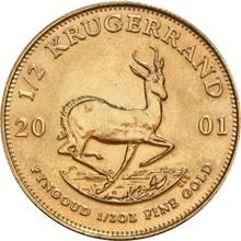2001 Half Ounce Krugerrand Gold Coin