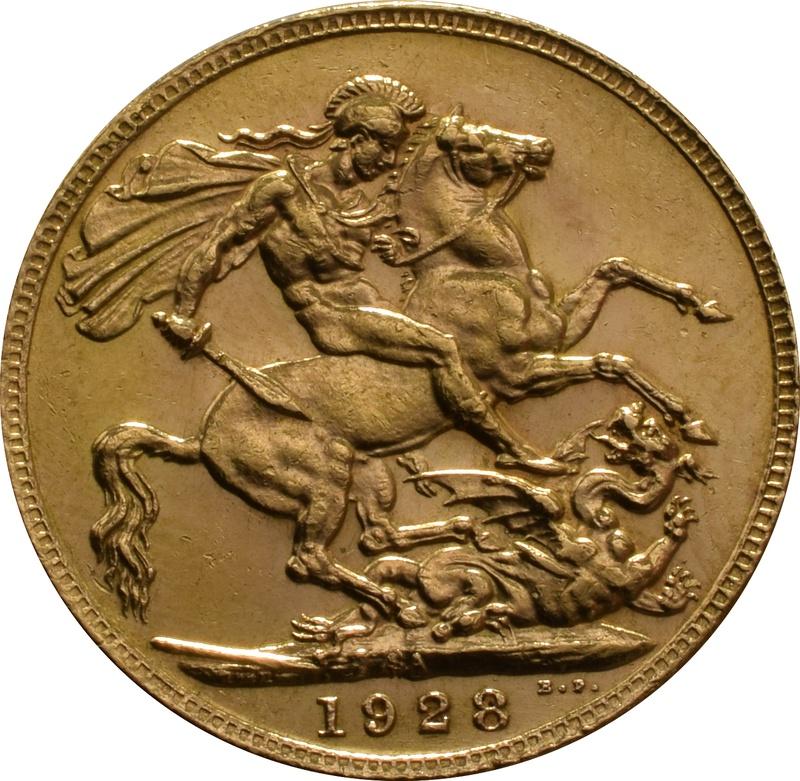 1928 Gold Sovereign - King George V - SA