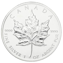 1998 1oz Canadian Maple Silver Coin