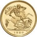 1980 Gold Half Sovereign Elizabeth II Decimal Head Proof