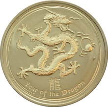 2012 1oz Gold Year of the Dragon