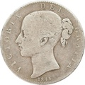 1845 Victoria Young Head Silver Crown - Fine