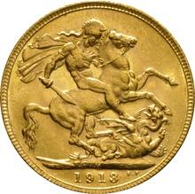 1913 Gold Sovereign - King George V - M