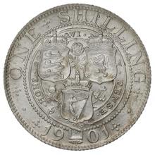 1901 Queen Victoria Silver Shilling