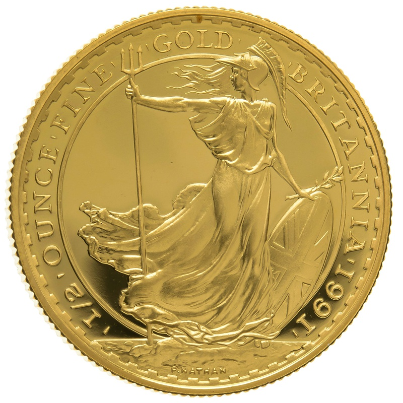 1991 Half Ounce Proof Britannia Gold Coin