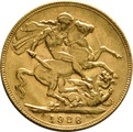 1928 Gold Sovereign - King George V - P