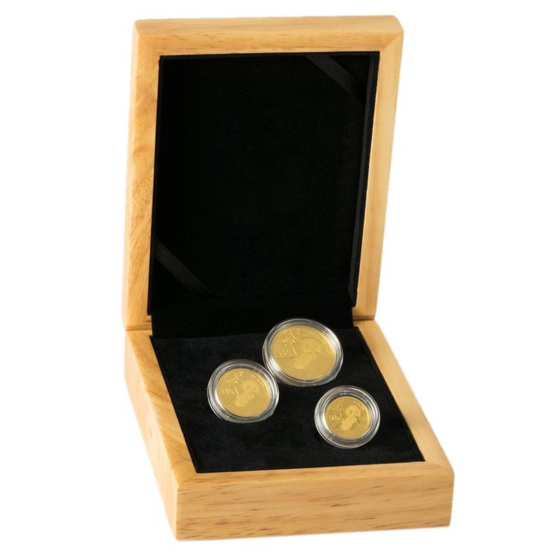 2020 Panda Bullion 3-Coin Set Gift Boxed