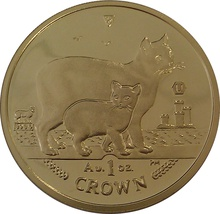1oz Gold Isle of Man Manx Crown Coin 2012