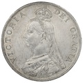 1889 Queen Victoria Silver Double Florin - Inverted 1 in VICTORIA