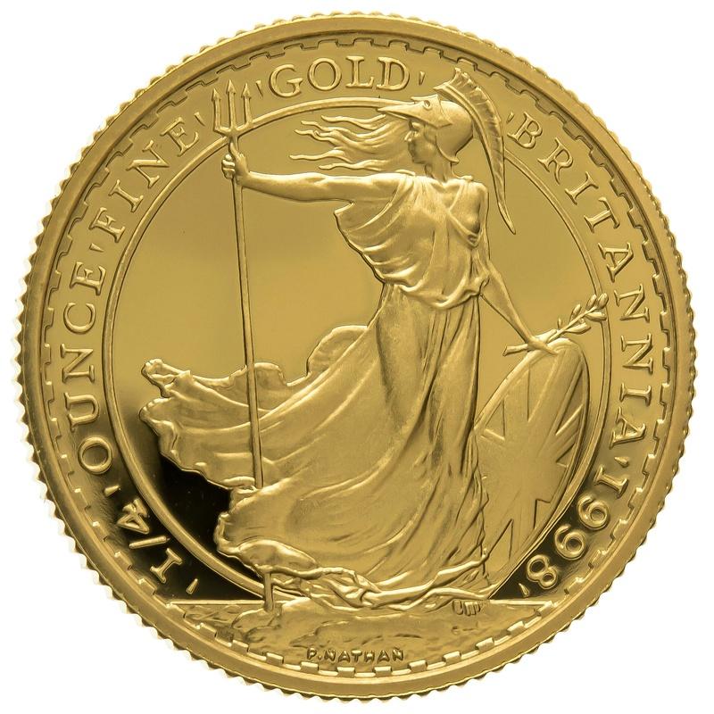 1998 Quarter Ounce Proof Britannia Gold Coin