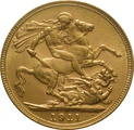 1911 Gold Sovereign - King George V - M