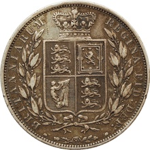 1881 Victoria Young Head Silver Half Crown