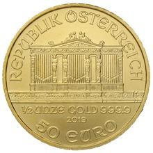 2019 Half Ounce Austrian Gold Philharmonic Coin