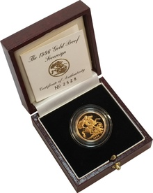 Gold Proof 1996 Sovereign Boxed