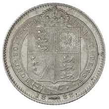 1888 Queen Victoria Silver Shilling - Uncirculated