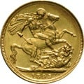 1893 Gold Sovereign - Victoria Jubilee Head - S