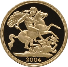 2004 £2 Two Pound Proof Gold Coin (Double Sovereign)