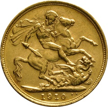 1910 Gold Sovereign - King Edward VII - M