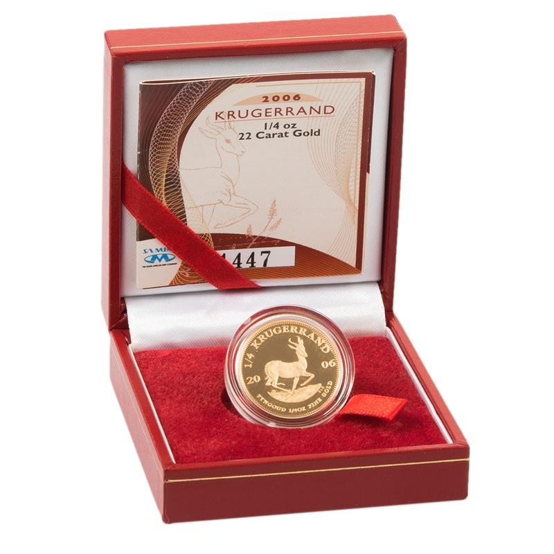 2006 1/4oz Gold Proof Krugerrand - Boxed