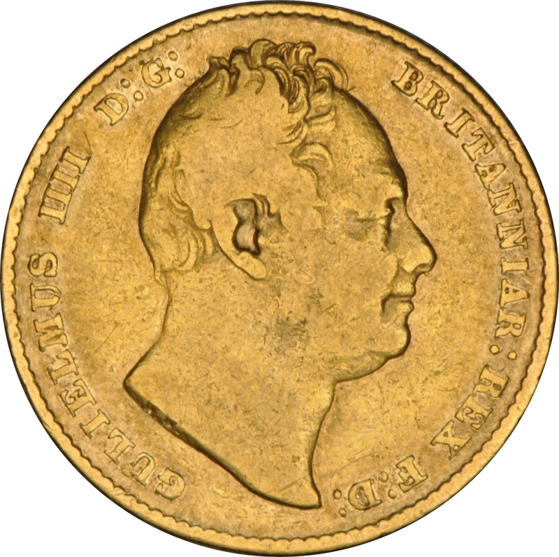 1837 Gold Sovereign - William IV NGC VF20