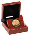 Gold Proof 2015 £1 One Pound Royal Arms Boxed