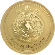 2010 1oz Gold Australian Lunar Year of the Tiger