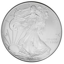 2008 1oz American Eagle Silver Coin