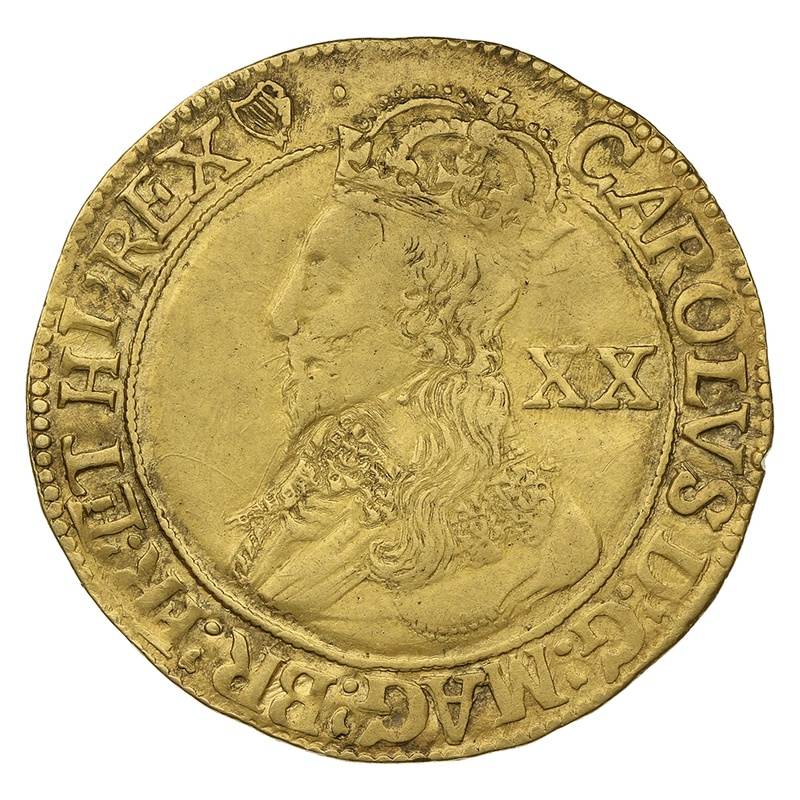 1632 - 1633 Charles I Unite Gold Coin - mm Harp