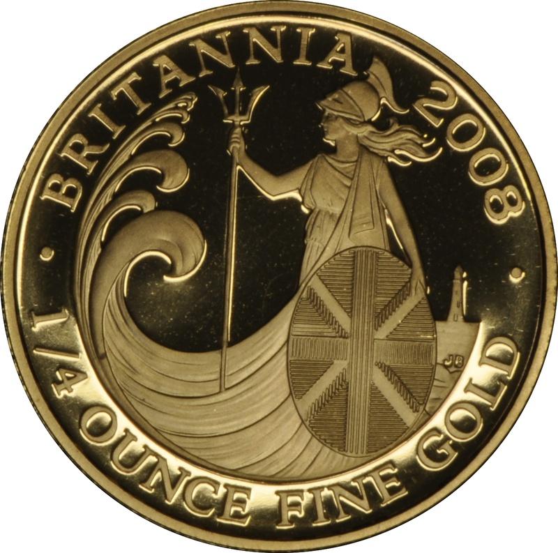 2008 Quarter Ounce Proof Britannia Gold Coin