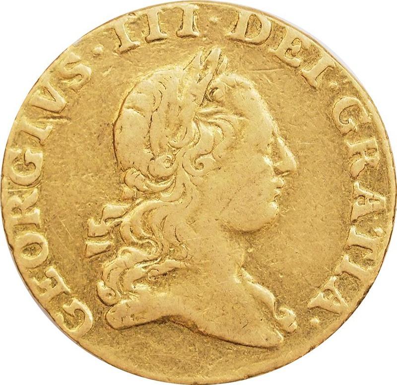 1766 George III Half Guinea - Trace of Mount