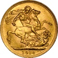 1916 Gold Sovereign - King George V - London NGC MS63