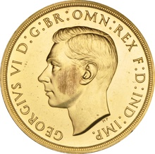 1937 Proof Quintuple Sovereign George VI