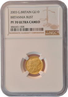 2003 Tenth Ounce Proof Britannia Gold Coin NGC PF70