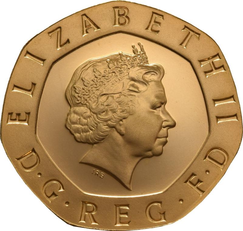Gold Twenty Pence Piece
