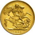 1893 Gold Sovereign - Victoria Old Head - M
