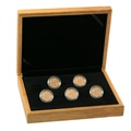 Five 2020 Sovereign Gold Coins in Gift Box