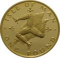 Isle Of Man One Pound 1980 - 1982 Triskellion on Island