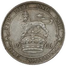 1906 Edward VII Silver Shilling