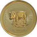 2007 2oz Year of the Pig Lunar Gold Coin