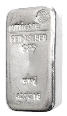 Umicore 1 Kilo Silver Bars
