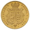 1865 Half Sovereign Victoria Young Head Shield Back - London