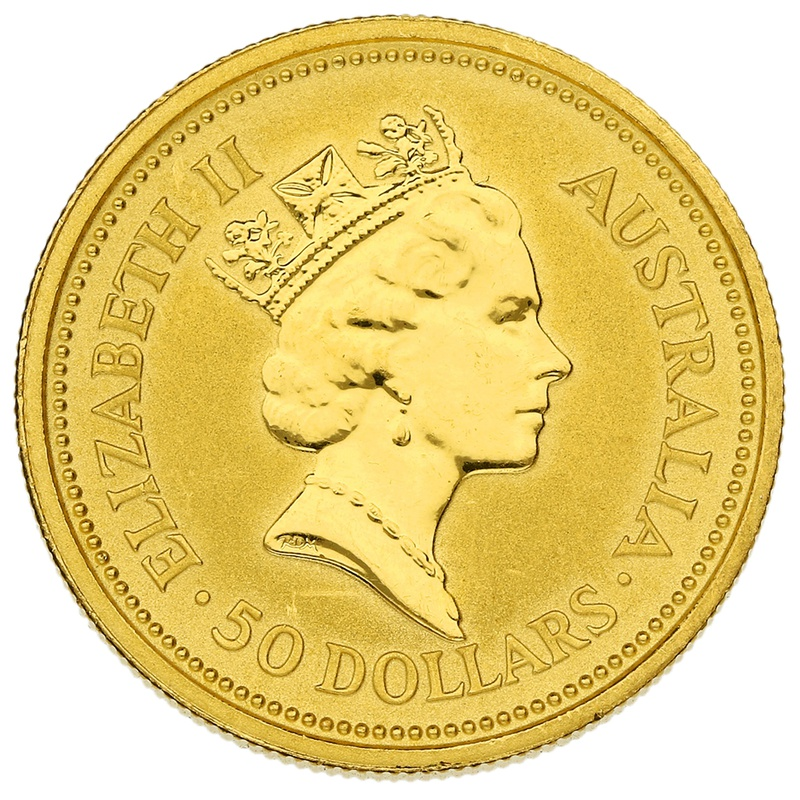 1991 Half Ounce Gold Australian Nugget