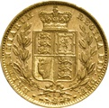 1880 Gold Sovereign - Victoria Young Head - Shield Back- S