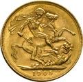 1905 Gold Sovereign - King Edward VII - S