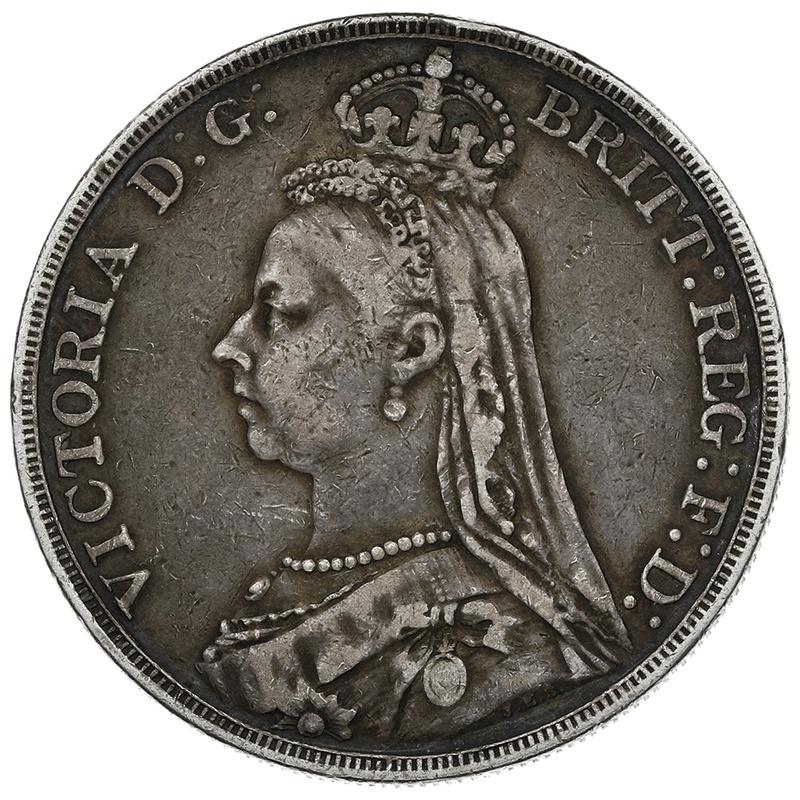 1890 Queen Victoria Silver Crown