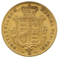 1866 Half Sovereign Victoria Young Head Shield Back - London